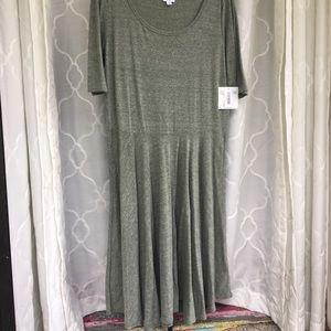 LuLaRoe Dresses - NWT LuLaRoe Nicole Dress - 3x Olive Green